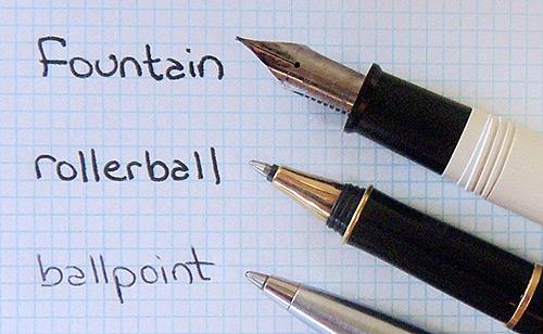 Типы ручек